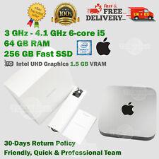 Mac mini Late 2018 64GB RAM 3GHz 6-Core i5 256GB SSD+ 2TB SSD Fast Apple Desktop