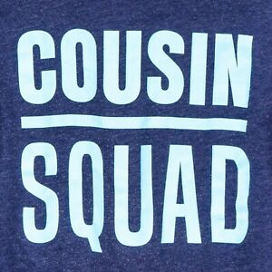 Childrens Place Cousin Squad Shirt L 10 12 Youth Blue Long Sleeve Cotton Blend