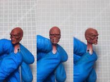 "Painted Service 1/12 Captain America Red Skull Head Sculpt fit 6"" Figure ML Mez"