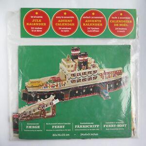 Vintage PAPER ADVENT CALENDAR FERRY   Samlekalender Faerge   Do It Yourself