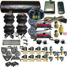 C10 Air Ride Suspension Kit Chevy 1973-87 3/8 Valves 14-Function Remote 4Link