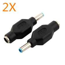 2X 4.5mm x 3mm Male to 5.5mm x 2.1mm Female Dc Power Adapter Jack for Hp Laptop