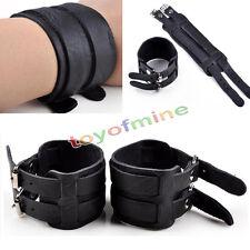 Cool Punk Men Womens Wide Genuine Leather Belt Bracelet Cuff Wristband Bangle