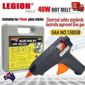 Electric Hot Melt Glue Gun Kit 40W Trigger Adhesive Stick Craft DIY Hobby Repair