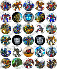 30 x Transformers Party Collection Edible Rice Wafer Paper Cupcake Toppers