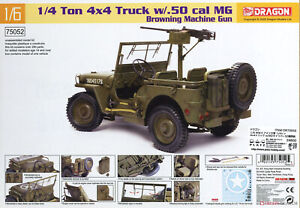 Dragon #75052 1/6 U.S. 1/4 Ton 4x4 Truck w/.30 cal Machine Gun