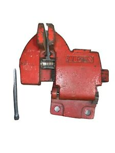 """VINTAGE WILTON  4"""" JAW BENCH VISE WITH SWIVEL BASE & PIPE GRIPS MADE IN USA"""