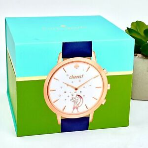 KATE SPADE Strap Cheers Metro Grand Hybrid Smart Watch; KST23105 100% Authentic