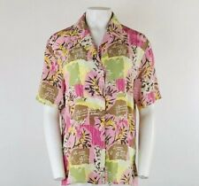 479aad1994e00 Diane Von Furstenberg Sz M Silk Blouse Pink Patchwork Floral Print Button  Top BQ
