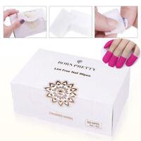 BORN PRETTY Silicone Nail Gel Polish Soakies Soak Off Remover Cap Cotton Wipes