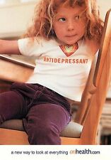 Antidepressant onheath.com Little Girl with Freckles Advertisement Postcard 6x4""