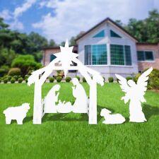 Giant Outdoor Nativity Scene - Large Christmas Yard Decoration Set