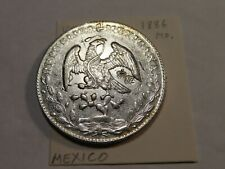 D125 Mexico 1886-Mo 8 Reales w/ Small Chinese Chop Marks