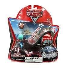 Disney Cars Cars 2 Series 1 Squinkies 4-Pack Mini Figures with Ramp NEW