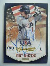 TONY WOLTERS signed RC ROCKIES 2013 Panini USA baseball card AUTO Autographed 85