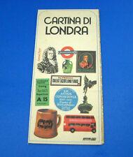 Cartina Turistica di Londra - 1984 Italiano