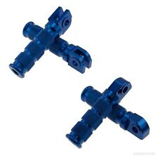 Yamaha R1 R6 Round Foot Peg Set Front & Rear Footrest Rider Passenger Step Blue