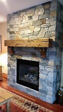 Fireplace Mantel Rustic Floating Knotty Alder Salvaged Hewn Rough Sawn Reclaimed