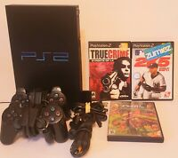 SONY PS2 Console Playstation 2 Complete  Game System with 13 Games Tested EUC