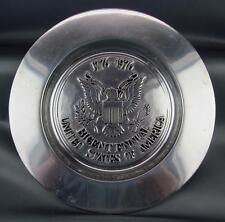 """WILTON ARMETALE® 12"""" COMMEMORATIVE PLATE - U. S. BI-CENTENNIAL 1776-1976"""