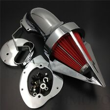 For Yamaha V-Star 1100 Dragstar XVS1100 1999-2012 CHROME Cone Spike Air Cleaner