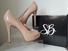 BNIB Shoe Box Peep Toe Nude Patent Platforms. Size 7. £48. Fab Quality. See desc