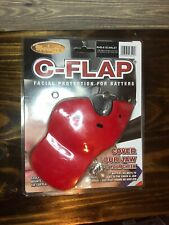 Markwort C-Flap Facial Protection for Right Handed Batters Protect Jaw Cheek Red