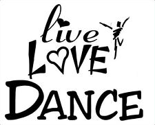 CHOOSE A  LIVE LOVE DANCE LOGO IRON ON TRANSFER DANCE TROOPS T SHIRTS  GIFTS