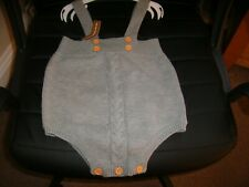 Baby Boys Romper age 6 mths Grey (Fortunate Crab) Bnwt