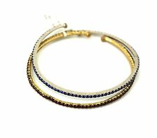 Catherine Stein Co Gold -Tone Single Set of 2 Sapphire and Red Cuff Bracelet