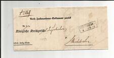 Preussen V. / WINTERBERG Ra2 1859 auf Post-Ins.-Dok.-Brief nach Medebach