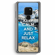 Keep Calm And Just Relax Huawei Mate 20 Hülle Motiv Design Spruch Cool Schön ...
