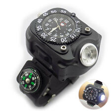Tactical LED flashlight watch Rechargeable Wrist Watch Flashlight Light Torch