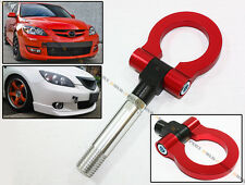 RED JDM FOLDING SCREW ON TYPE FRONT/REAR TOW HOOK FOR MAZDA CX5 RX8 MAZDASPEED