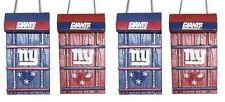 NY New York Giants Toboggan Holiday Christmas Tree Ornaments 4 pack NEW