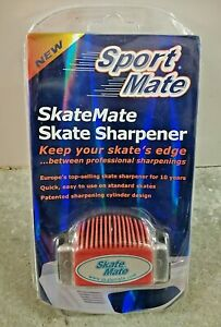 Sport Mate SkateMate Red Grip Skate Sharpener Keeps You Skate's Edge Sealed NIB