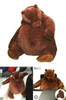 New 100cm simulation DJUNGELSKOG bear toy Brown Teddy Bear Stuffed Animal doll !