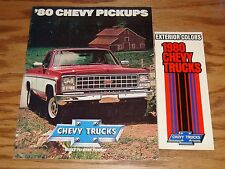 1980 Chevrolet Truck Pickup Sales & Color Brochure Lot of 2 80 Chevy