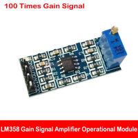 LM358 100 Times Gain Signal Amplification Amplifier Operational Module Board DIY