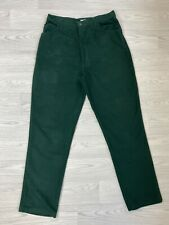 """LONG TALL SALLY Bottle Green Brushed Cotton Trousers Size 16 31"""" Leg"""
