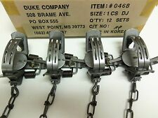 4  Duke #1 Double Jaw Coil Spring Traps Fox Nutria Muskrat Trapping 0468