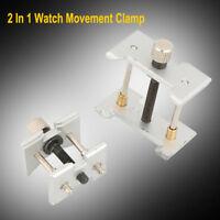 2 In 1 Reversible Watch Case Repair Tool Movement Holder Vice Clamp Kit Set