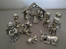 Towle 12 Piece Silverplated Child's Nativity Set Original Box