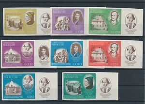 [G81360] Paraguay 1966 good set of stamps very fine MNH imperf $22