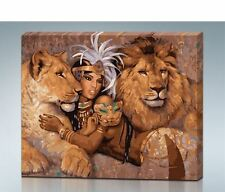 Wall Poster Hanging Canvas Print Goddess Egypt Lion Woman Beautiful Hot Picture