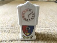 Vintage Crested China Southsea Grandfather Clock Collectible