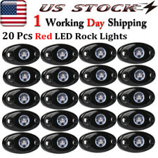 20X Underglow LED Rock Lights Red 9W For For JEEP Truck Off-Road UTV RZR Boat