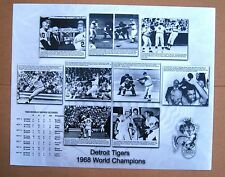 1968 Detroit Tigers  World Series Highlights 16 x 20 Limited Edition Photo !