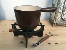VINTAGE COUSANCES LE CREUSET BEAN / SOUP POT with CAST IRON BURNER STAND