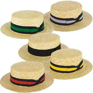 ZAKIRA Straw Boater Hat Handmade in Italy